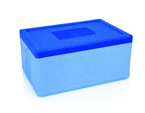 GN Thermotransportbehälter aus Polypropylen in blau – passend für GN Behälter 1/1, die Innenabmessung ist größer als GN 1/1, Behälter verschiedener Höhen können somit