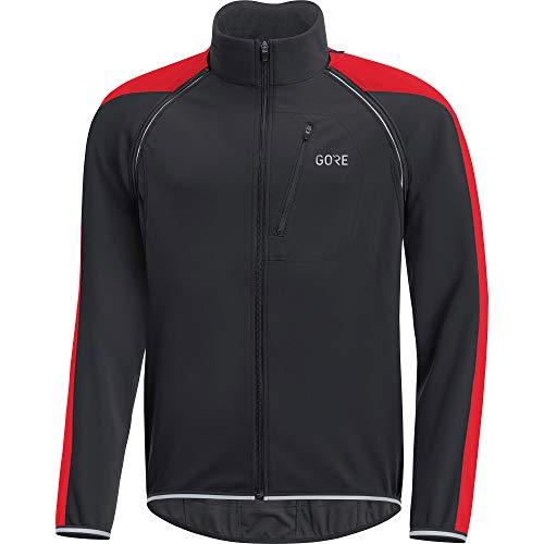 GORE Wear C3 Herren Zip-Off Jacke GORE WINDSTOPPER, L, Schwarz/Rot Stretch-zip-jacke