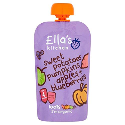 Preisvergleich Produktbild Ella's Kitchen Stage 1 From 4 Months Organic Sweet Potato,  Pumpkin,  Apple and Blueberries 120 g (Pack of 7)