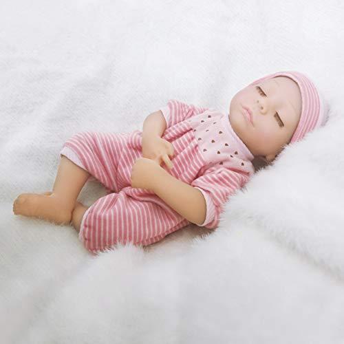 Ánimo Muñecos Bebé Soñando Hecho de Alto Nivel de Realismo Vestido con Ropa de Moda 13.5in(34cm) con El Cuerpo Blando y Los Abrazos y Piernas Moviles