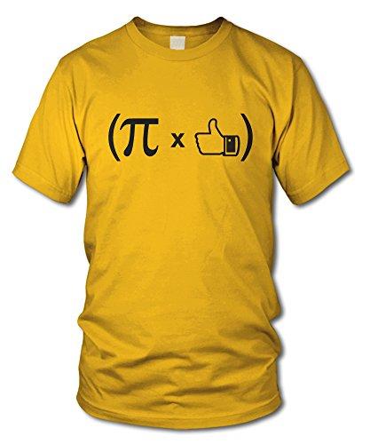 shirtloge - (PI x DAUMEN) - FUN T-Shirt - KULT - in verschiedenen Farben - Größe S - XXL Gelb