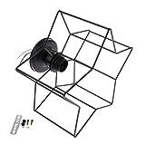 Baoblaze Vintage Käfig Draht Lampenschirm mit E27 Fassung Retro Industrielle Metall DIY Deckenleuchte Zubehör für Bar Café Restaurant Küche Flur Schlafzimmer - Fünfeckiger Stern