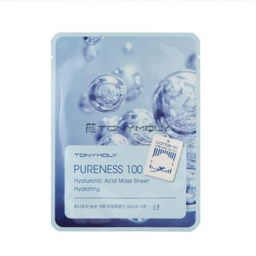 Tony Moly Pureness 100 acide hyaluronique masque feuille 10pc