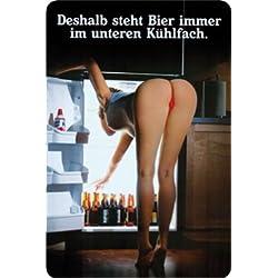 Kühlschrank Bier Pin UP Metal Sign Gewölbt New 20x30cm VS2651A