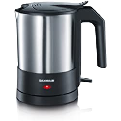 Severin 3364 - Hervidor (1,5 L, 1800 W), color negro/acero mate