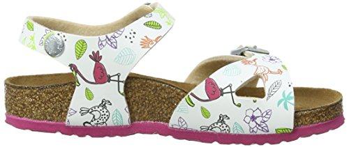 Birkenstock Kids Rio Bf Dd, Sandales Bride cheville Fille Multicolore - Mehrfarbig (FUNNY BIRDS WHITE)