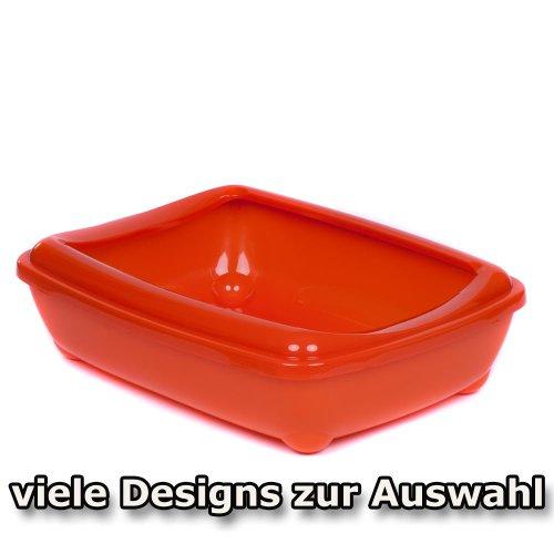 katzeninfo24.de adena Katzentoilette Schale 50 cm C192 mit Rand orange