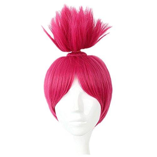 (COSPLAZA Kurz Rose-Pinky Spiky Hochsteckfrisur Prestyled Mädchen Kid Kinder Deluxe Cosplay Kostüm Perücken)