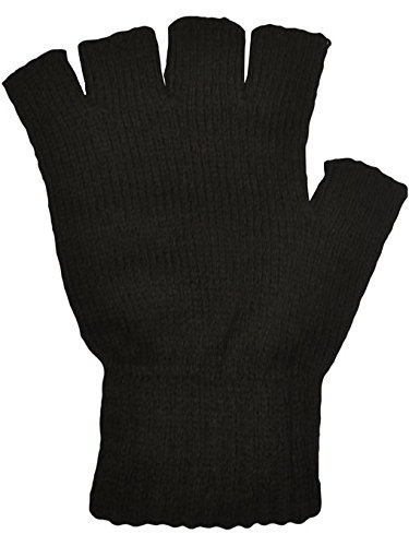 5starwarehouser-thermal-black-fingerless-gloves-super-winter-warm-5star-cloth-included