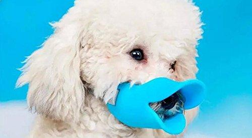 (Dogs Kingdom Weiches Silikon niedliche Anti Bite Ente Mund Form Hund Mund Bezüge anti-called Maulkorb)