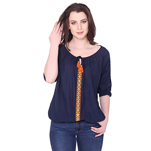 Aania Women's Embroidered Exclusive Casual Cotton Top