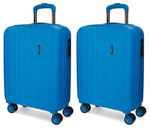 Juego de maletas de cabina Movom Wood rígidas 55cm Azul