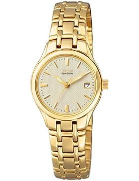 Citizen Damen-Armbanduhr Analog Quarz Edelstahl EW1262-55P