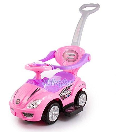 PINK Baby Walker DELUXE MEGA CAR 3in1 with Parent Handle KP3523