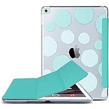 ULAK iPad Air 2 Case Cover Funda Ultra fina delgada Caso claro de la cubierta PC nuevo con el único patrón PU cuero con Auto Estela magnética y la función del sueńo para el iPad 2 Aire (Menta Verde)