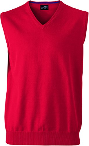 James & Nicholson Herren V-Neck Pullunder Rot (Red)