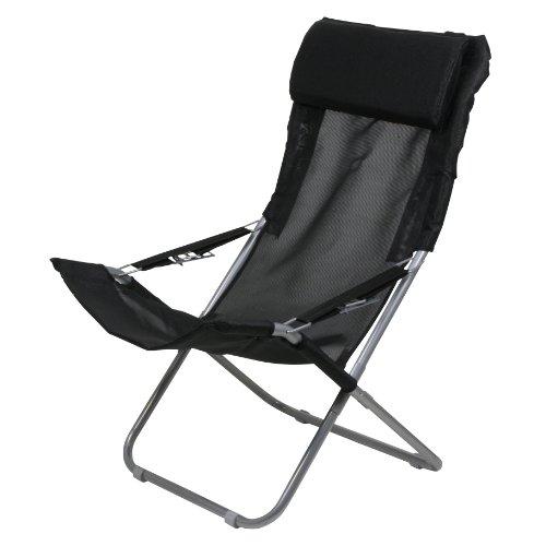 10T Campingstuhl Maxi XXL Klappstuhl Gartenstuhl + Kopfpolster & verstellbarer Rückenlehne max 136kg - Klapp Strand Camping Stuhl