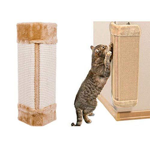 AlayGreen® - Esquina de pared para gatos con rascador de árbol, cuerda de sisal