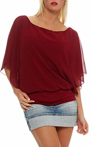 malito-schicke-loose-fit-chiffon-bluse-rundhals-fledermaus-tunika-6296-damen-one-size-bordeaux