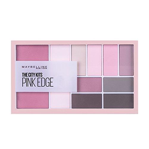 Maybelline City Kit Lidschatten- & Highlighterpalette Nr. 2 Pink Edge, 8 Lidschatten, 1 Highlighter und 1 Blush in einer Palette, perfekt aufeinander abgestimmt, in Rosé-Tönen, 12 g (Palette Rose)