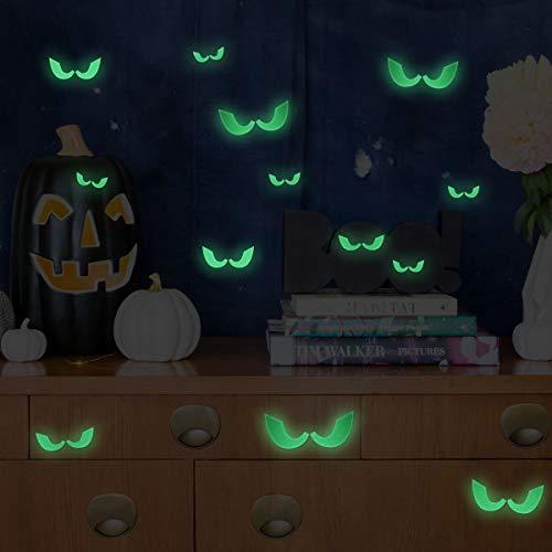 UNOMOR Halloween Dekoration Boese Augen Fluoreszierende Wandtattoos, 23 pro Set, 46 ()