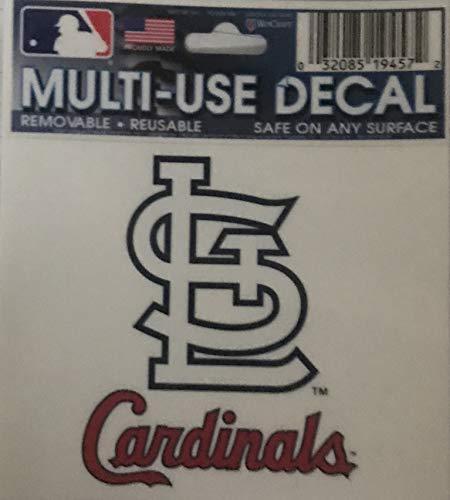 Wincraft St. Louis Cardinals Mehrzweck-Aufkleber, 7,6 x 10,2 cm (St Louis Cardinals-aufkleber)