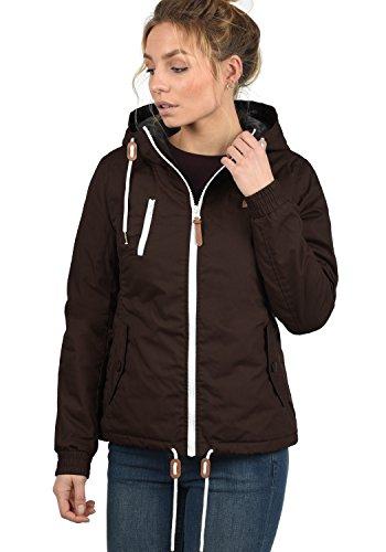 DESIRES Tilda Damen Übergangsjacke Jacke gefüttert mit Kapuze, Größe:XS, Farbe:Coffee Bean (5973) - 2