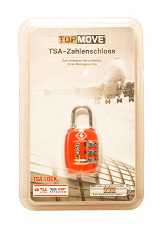 TSA - Zahlenschloss - Travel Sentry® Schloss - USA - TSA Accepted Rot + 3er (Sentry Approved Schloss Travel)