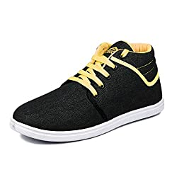 Asian shoes Signature 21 Black Yellow Mens Shoes 9 UK/Indian