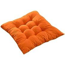 Cojines de Asiento Cojín Amortiguador de Silla Comedor Al Aire Libre Jardín Muebles Decoración - Naranja