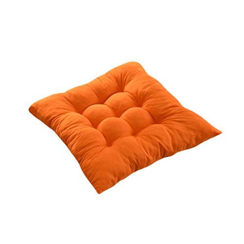 generic indoor outdoor dining garden patio home kitchen office chair seat cushion pads orange 40x40cm - Office Chair Seat Cushion