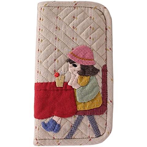 Pieghevole a portafoglio trapunta cucire a mano supporto per kit da cucito regalo per bambine adulto