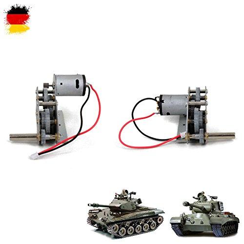 Unbekannt Original Heng Long Metallgetriebe-Set mit Motoren passend für Walker Bulldog 3839-1 und Snow Leopard 3838-1 RC Ferngesteuerter Panzer, Ersatzteil