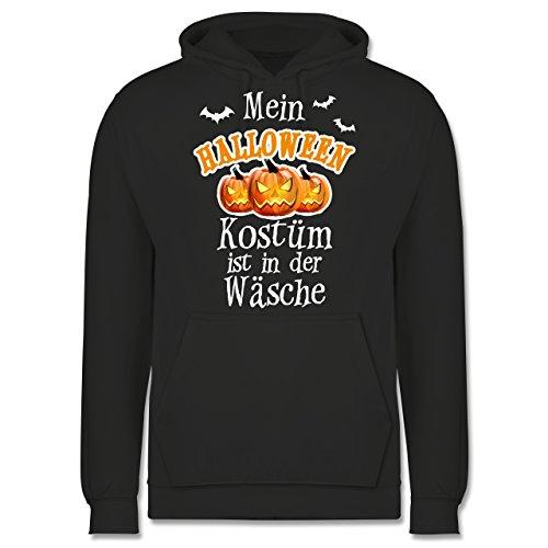 Shirtracer Halloween - Mein Halloween Kostüm ist in der Wäsche - 3XL - Anthrazit - JH001 - Herren Hoodie