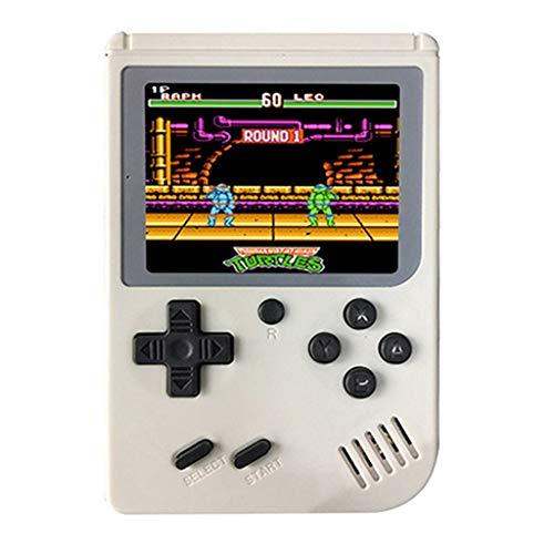 Cooljun Handheld Spielkonsole, Retro TV FC Spielkonsole, Entertainment System Videospielkonsole mit 3 Zoll 168 Klassische Spiele, spielkonsolen für Kinder Eltern Freunde (Weiß)