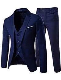 Abbigliamento Uomo Slim Abiti Business Casual Abbigliamento Groomsman Tre  Pezzi Suit Blazer Jacket Pants Pantaloni Vest d54191882b5