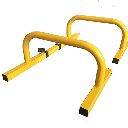 Dip-Station Parallele Push Up Bars Body Mini Bars for das Workout mit Körpergewicht und Calisthenics Dip Barren (Color : Yellow, Size : 51x38x26cm)