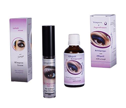 Wimpernserum Wimpernwunder - 6ml – Serum für Wimpernverlängerung und Verdichtung - Hersteller-Set mit Augenpflegeöl 50ml