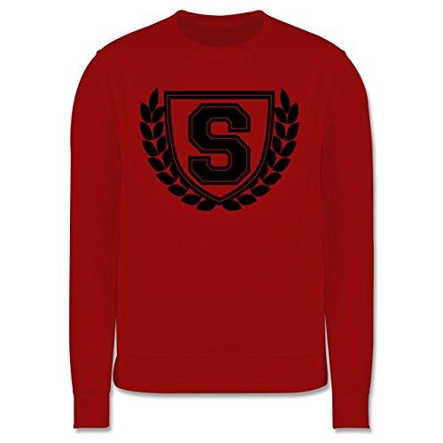 Anfangsbuchstaben - S Collegestyle - Herren Premium Pullover Rot