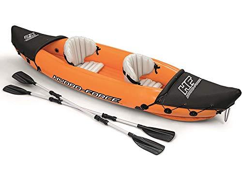 Bestway 65077 Kayak Max. 160 Kg con Remi, Blu, 321 x 88 cm