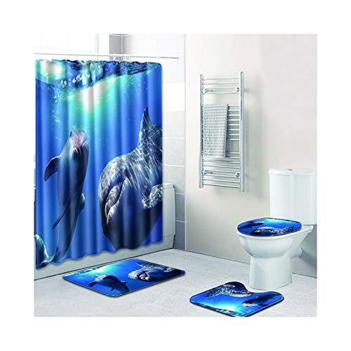 Knbob Badematte Set 7 Teilig Delphin Stil 03 Wc Teppich Toilette 50X80Cm