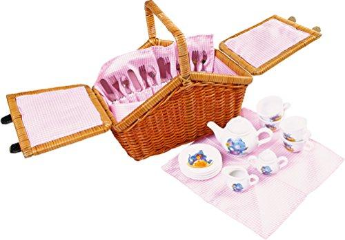 Legler small foot Kinderküchen-Zubehör Picknickkorb Romantik, 30tlg ca. 75 x 37 x 86 cm -