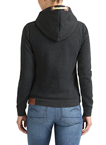 DESIRES Vicky - Sweat à capuche zippé – Femme Dark Grey Melange