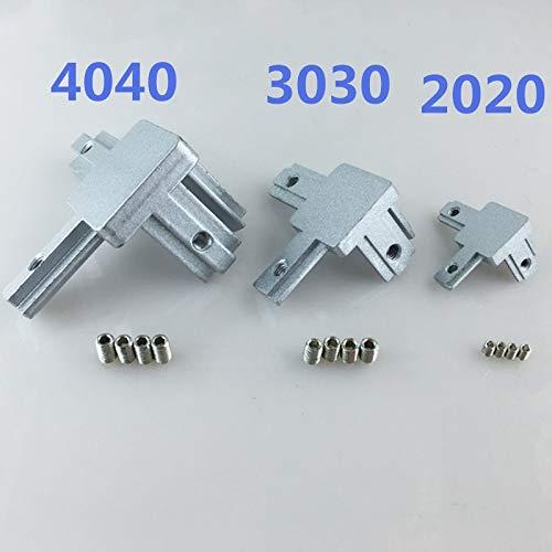 3D-Drucker - 3D-Drucker 4 Stück T-Schlitz L-Form 2020 3030 4040 Aluminium-Profil innen 3-Wege Inneneckklammern Verbinder, 3030, 3030 -