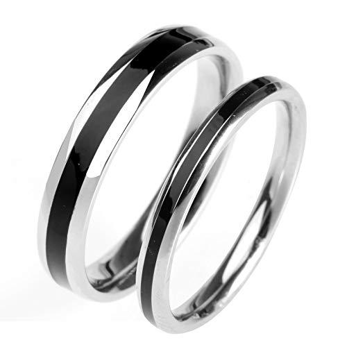 g Partnerringe Paarpreis Hochzeit Ring Weißgold,Schwarz,Frau:55(17.5)&Mann:52(16.6) ()