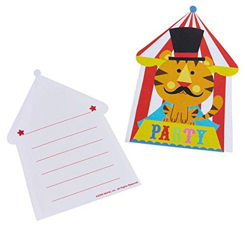 8 Einladungskarten + Umschläge * ZIRKUS * für Kindergeburtstag // 998571 // Kinder Geburtstag Kinderparty Party Invitations FISHER PRICE Fischer Circus (Zirkus-party-einladungen)