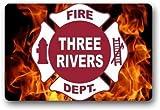 Doormat Custom Machine-Washable Door Mat Firefighter Fire Department Logo Indoor/Outdoor 23.6'(L) x 15.7'(W)