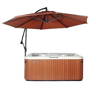 Essentials Parasol/parapluie pour jacuzzi et spa Couleur rouille