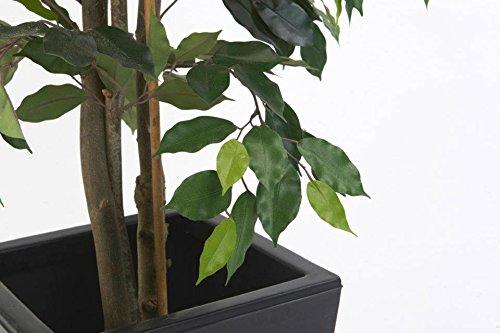 Artificial Silk Ficus Cane Tree FR - 120cm, Green