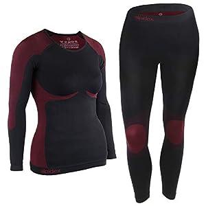 ALPIDEX Damen Funktionswäsche Thermounterwäsche Skiunterwäsche – atmungsaktiv, wärmend und schnell trocknend